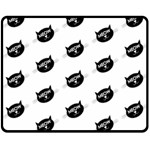 meow cat - Double Sided Fleece Blanket (Medium)