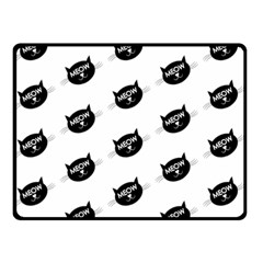 Meow Cat By Divad Brown   Double Sided Fleece Blanket (small)   Kwdmv5xmfopd   Www Artscow Com 50 x40 Blanket Front
