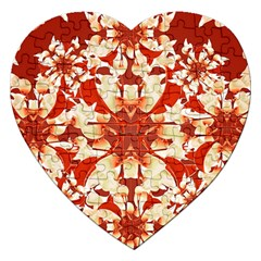 Digital Decorative Ornament Artwork Jigsaw Puzzle (heart) by dflcprints