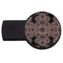 Luxury Ornament Refined Artwork 2gb Usb Flash Drive (round) by dflcprints