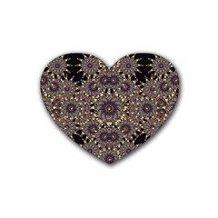 Luxury Ornament Refined Artwork Drink Coasters (heart) by dflcprints