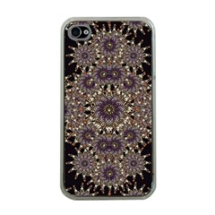Luxury Ornament Refined Artwork Apple Iphone 4 Case (clear) by dflcprints