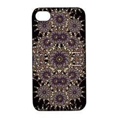 Luxury Ornament Refined Artwork Apple Iphone 4/4s Hardshell Case With Stand by dflcprints