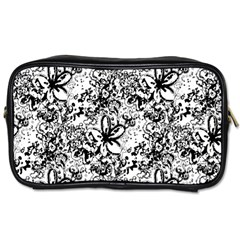 Flower Lace Travel Toiletry Bag (one Side) by rokinronda