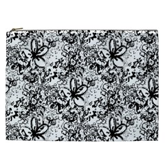 Flower Lace Cosmetic Bag (xxl) by rokinronda
