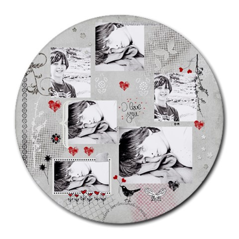 Collage Round Mousepad By Deca   Collage Round Mousepad   F5esjqrc9bzq   Www Artscow Com 8 x8 Round Mousepad - 1