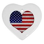 Grunge Heart Shape G8 Flags Heart Ornament