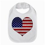 Grunge Heart Shape G8 Flags Bib