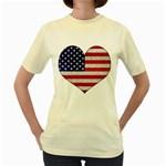Grunge Heart Shape G8 Flags Women s T-shirt (Yellow)