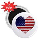 Grunge Heart Shape G8 Flags 2.25  Button Magnet (10 pack)