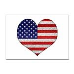 Grunge Heart Shape G8 Flags A4 Sticker