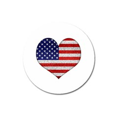 Grunge Heart Shape G8 Flags Magnet 3  (round) by dflcprints