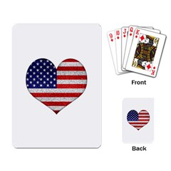 Grunge Heart Shape G8 Flags Playing Cards Single Design by dflcprints