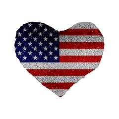 Grunge Heart Shape G8 Flags 16  Premium Heart Shape Cushion  by dflcprints