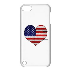 Grunge Heart Shape G8 Flags Apple Ipod Touch 5 Hardshell Case With Stand by dflcprints