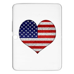 Grunge Heart Shape G8 Flags Samsung Galaxy Tab 3 (10 1 ) P5200 Hardshell Case  by dflcprints