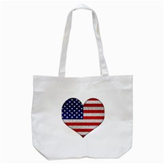 Grunge Heart Shape G8 Flags Canvas Tote Bag by dflcprints