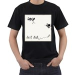 Men s t-shirt two sided - Men s T-Shirt (Black) (Two Sided)