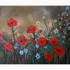 Poppy Garden Canvas 20  X 24  (unframed) by rokinronda