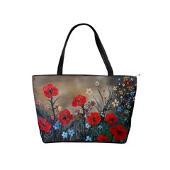 Poppy Garden Large Shoulder Bag by rokinronda