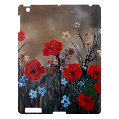 Poppy Garden Apple Ipad 3/4 Hardshell Case by rokinronda