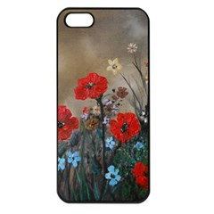 Poppy Garden Apple Iphone 5 Seamless Case (black) by rokinronda