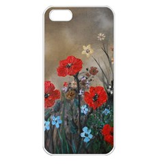 Poppy Garden Apple Iphone 5 Seamless Case (white) by rokinronda