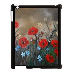 Poppy Garden Apple Ipad 3/4 Case (black) by rokinronda