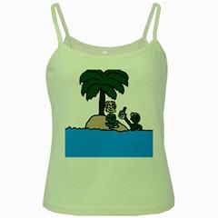 Desert Island Humor Green Spaghetti Tank by EricsDesignz
