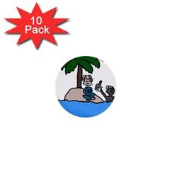 Desert Island Humor 1  Mini Button (10 Pack) by EricsDesignz