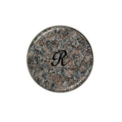 Pink And Black Mica Letter R Golf Ball Marker 10 Pack (for Hat Clip) by Khoncepts