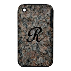 Pink And Black Mica Letter R Apple Iphone 3g/3gs Hardshell Case (pc+silicone) by Khoncepts