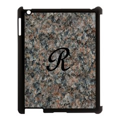 Pink And Black Mica Letter R Apple Ipad 3/4 Case (black) by Khoncepts