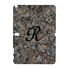Pink And Black Mica Letter R Samsung Galaxy Note 10.1 (P600) Hardshell Case by Khoncepts