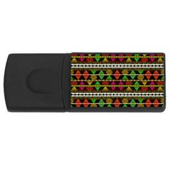 Aztec Style Pattern 4GB USB Flash Drive (Rectangle) by dflcprints