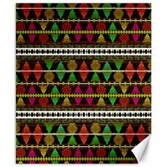 Aztec Style Pattern Canvas 8  X 10  (unframed) by dflcprints