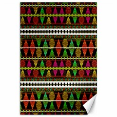 Aztec Style Pattern Canvas 12  X 18  (unframed) by dflcprints