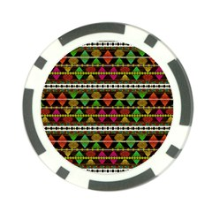 Aztec Style Pattern Poker Chip (10 Pack)