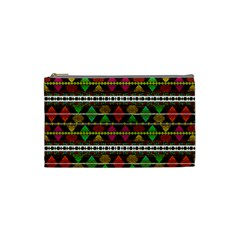 Aztec Style Pattern Cosmetic Bag (small) by dflcprints