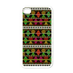 Aztec Style Pattern Apple Iphone 4 Case (white) by dflcprints