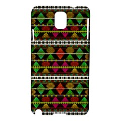 Aztec Style Pattern Samsung Galaxy Note 3 N9005 Hardshell Case by dflcprints