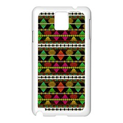 Aztec Style Pattern Samsung Galaxy Note 3 N9005 Case (white) by dflcprints