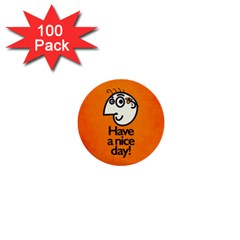 Have A Nice Day Happy Character 1  Mini Button (100 Pack) by CreaturesStore