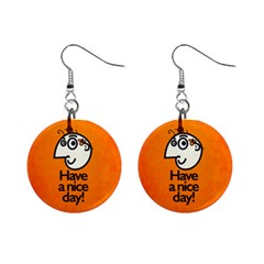 Have A Nice Day Happy Character Mini Button Earrings by CreaturesStore
