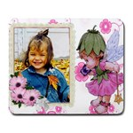 Pink Fairy Child anf flowers Collage Mousepad