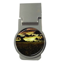 Dark Meadow Landscape  Money Clip (round) by dflcprints