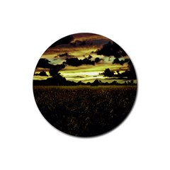 Dark Meadow Landscape  Drink Coasters 4 Pack (round) by dflcprints