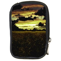 Dark Meadow Landscape  Compact Camera Leather Case by dflcprints