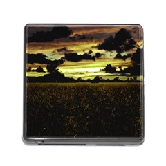 Dark Meadow Landscape  Memory Card Reader with Storage (Square) by dflcprints