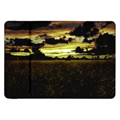 Dark Meadow Landscape  Samsung Galaxy Tab 8 9  P7300 Flip Case by dflcprints
